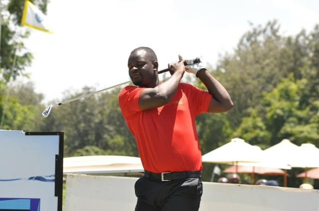 Nelson Simwa follows his tee shot during a past tournament.